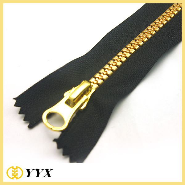No5 gold Plastic Zipper