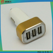 2.1A Triple USB Ports Car Charger Travel Adapter