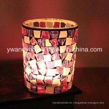 Personalizado Mosaico De Vidrio Candle Holder