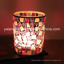 Personalizado Mosaico Glass Candle Holder