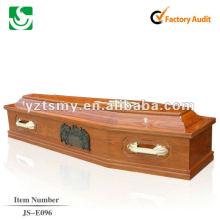 ataúd de madera antigua cremación barato E096 JS