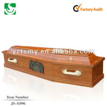 antique cheap cremation wooden coffin JS-E096