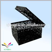 Usine chinoise style nouveau style carré porte lettre porte en relief boîte en métal avec couvercle