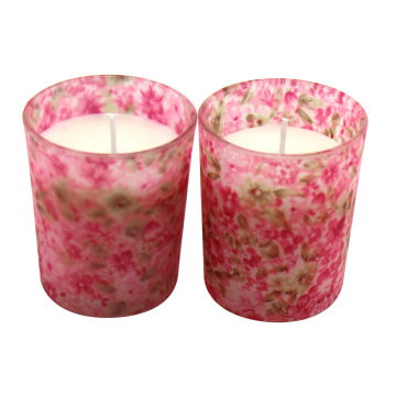 Natural Soy Wax Candle in glas