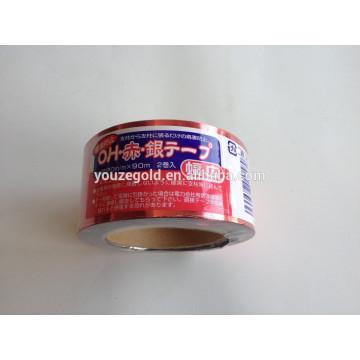 Glänzender PET-Film Vogel-Scheuerband rot, silber, golden, etc.