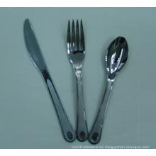 Cuchillería plástica desechable del color de la plata de la alta calidad / cubiertos plásticos revestidos de plata