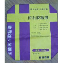 Sac de soupape en papier Kraft pour adhésif de brique 20kg