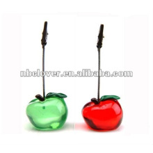 apple shape resin Memo Clip