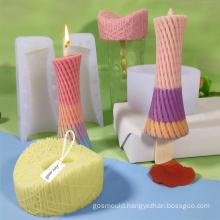 cake making tool creative DIY China bird nest type ice cream mould silicone pillar candle molds