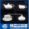 wedding return gift fine bone China white coffee set with sugar can and creamer jar