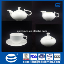 Hochzeitsrückkehr Geschenk feiner Knochen China weißer Kaffee eingestellt mit Zuckerdose und Sahneglas