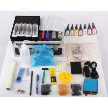 Profesionales tatuaje Kits 4 armas máquinas 7color tintas fuente de alimentación