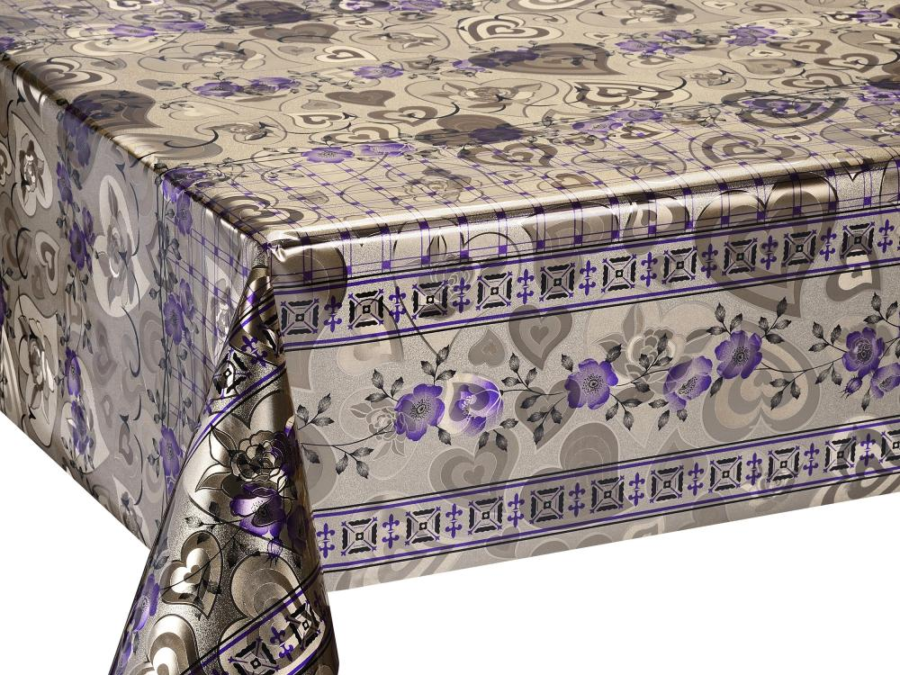 Silver Gold Coating Printed Tablecloth