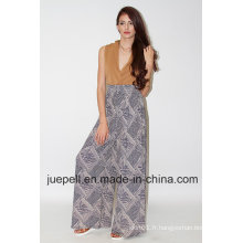 2015 Hot Sale Style Ladies Knit Rayon Fashion Pallazzo Pants