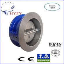 Eco-friendly dual plate cast iron check valve