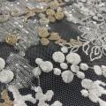 Hot Fashion Multicolor Lurex Threads / Sequins Embroidery