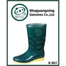PVC-Damenmode hohe Regen Stiefel