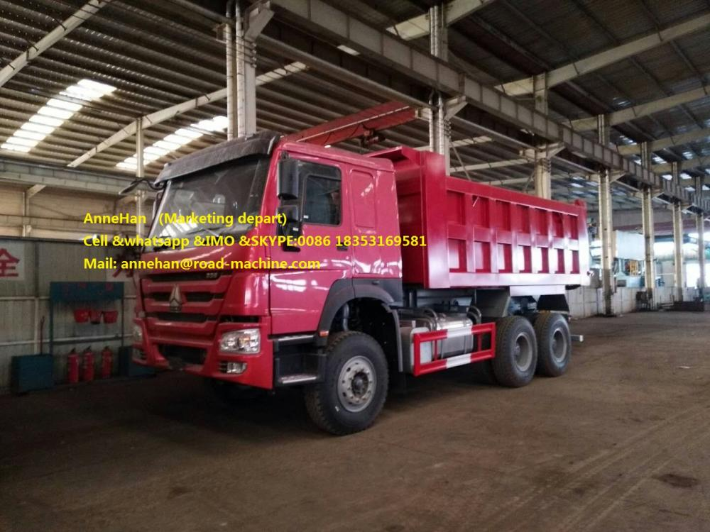 Mid Lifting Dump Truck Red 1