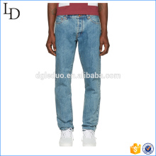 Washed plain customized denim jeans wholesale cheap jean Guangzhou
