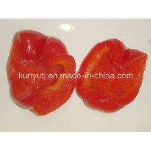 Enlatado doce pimenta vermelha Metades