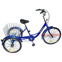 Pedal Assisted Tricycle Single Speed Three Wheeler