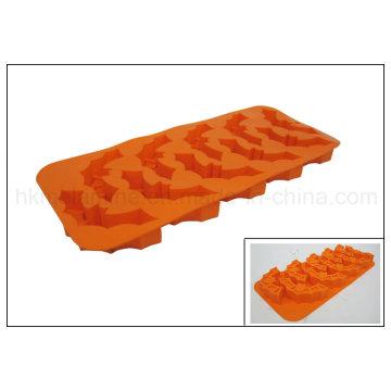 Helloween Bat em forma de bandeja de gelo de silicone (RS05)