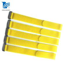 Yellow Nylon Hook Loop Strap