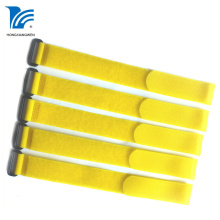 Yellow Nylon Hook Loop Strap