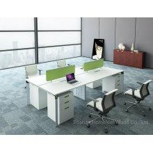 Secretária de mesa de trabalho de escritório de 4 lugares para escritório direto com divisor de tela (HF-DA05B)