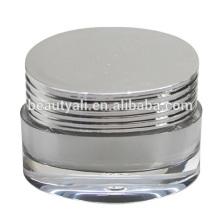 Luxuoso obturador forma acrílica cosméticos Jar PMMA Jar