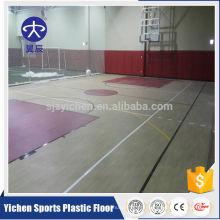 100% pure pvc camada de desgaste antiderrapante piso de basquete
