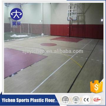 100% pur pvc usure couche anti-dérapant basket-ball plancher