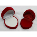 Handwork Velvet Wedding Ring Packaging Caixa de papel