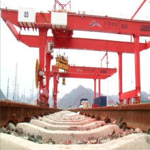 Double girder RMG 100 ton container gantry crane