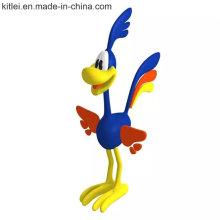 Figura plástica personalizada modelo de Donald Duck dos desenhos animados