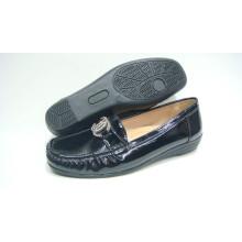 Zapatos cómodos de la señora de la venta caliente con la suela de TPR (Snl-10-083)