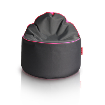 Round bean bag pouf and bean bag chair