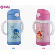 Wholesale Cute Cartoon Portable Insulated Stainess Steel Thermos Baby Bottle