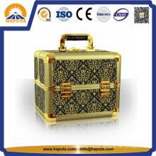 Golden Portable Aluminum Cosmetic Makeup Case (HB-3207)