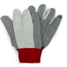 Gepunktetes Segeltuch-Baumwollhandschuh-Arbeitsschutz-Handhandschuh
