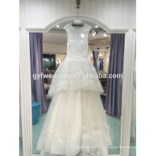 2017 spring and summer new princess dream sweet word bride wedding wedding dress long tail Slim thin LJ-20026