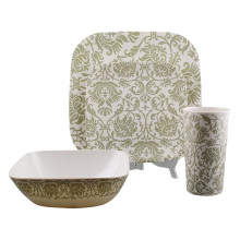 Square Melamine Tableware Set with 4PCS (TR3934)