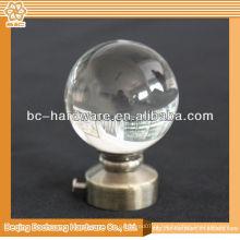 2014 Janela decorativa de esfera de cristal Rod finial