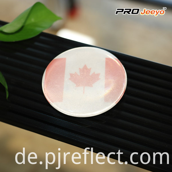High Visibility Safety Canada Flag Badge