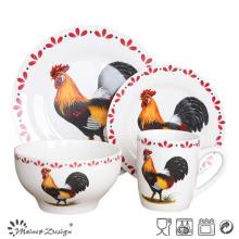 Ensemble de dîner en porcelaine en poulet