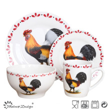 Chicken Design Porcelain Dinner Set