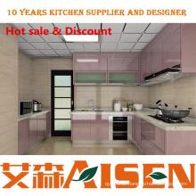 Helle Farbe spezielle visuelle Effekte Lack Küche Schrank Hersteller