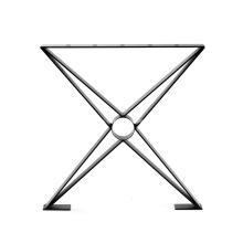Pieds De Table En Métal X Forme Plat Noir