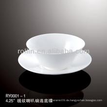 Gesunde spezielle haltbare weiße Porzellan chinesische Teetasse Set