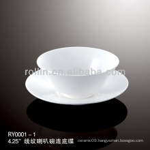 healthy special durable white porcelain chinese tea cup set